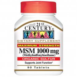 MSM 1000 mg 90 таблетки LIGNISUL™ | 21st Century