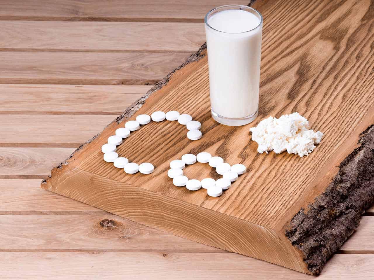 При артроза се препоръчва допълнителен прием на храни и добавки, съдържащи калций