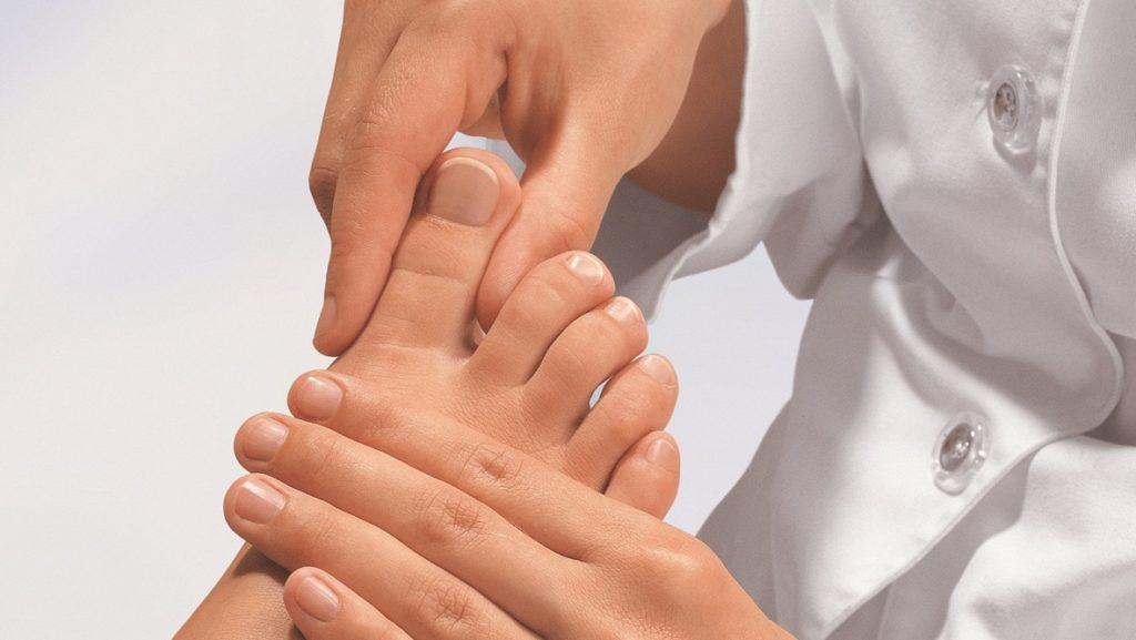 Степени на контузия на пръста на крака.